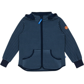 Finkid Kids Tonttu Striped Fleece Jacket blue mirage/navy